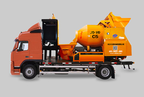 Concrete Boom Pump With Mixer